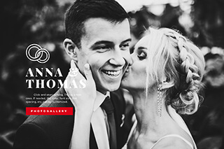 Wedding website – Black and white