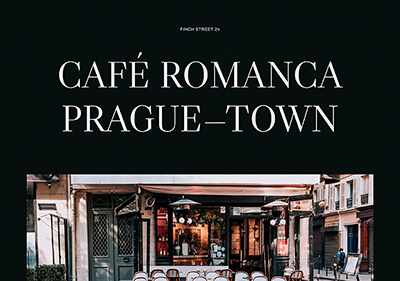 A website template for a cafe