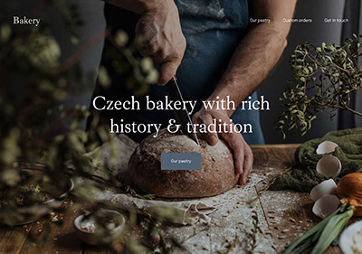 A website template for bakery