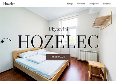 A website template for accomodation