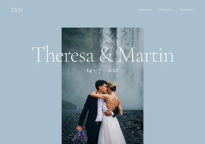 A website template for wedding announcement