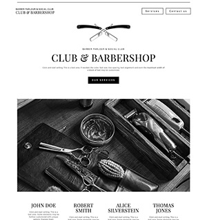 Template for a Barbershop