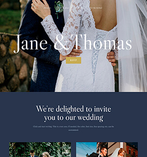 Template for a Wedding website