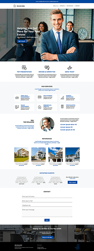 web predložak za real estate agent